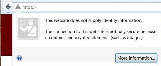 Non Secure SSL Error
